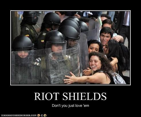 RIOT SHIELDS Don't you just love 'em