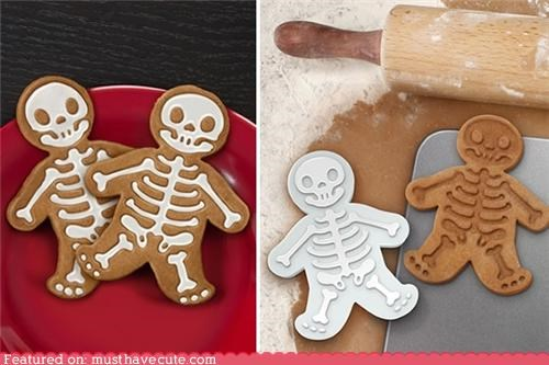 cookie cutters,cookies,gingerbread man,skeleton