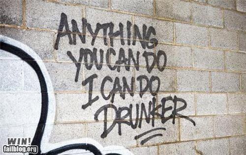 alcohol challenge drinking graffiti tag wall - 5368705280