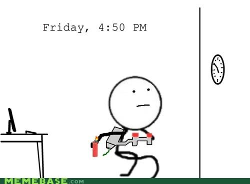 5pm 9-5 dynamite FRIDAY jobs Rage Comics work