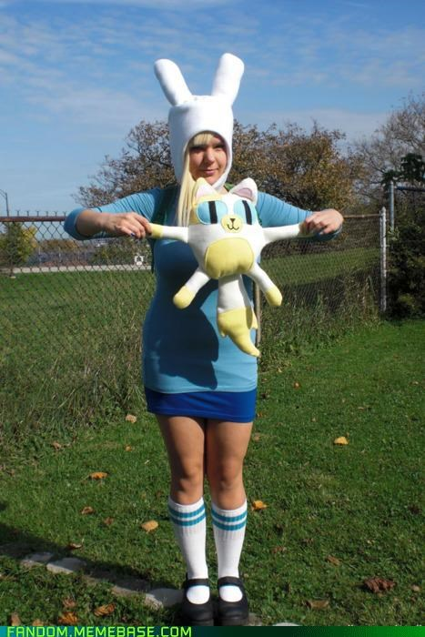 adventure time Fionna and Cake halloween perfect - 5368919808