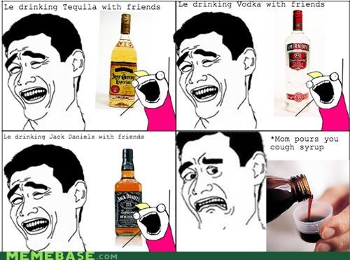 alcohol,cough syrup,drinks,friends,gross,jack daniels,mom,Rage Comics,vodka