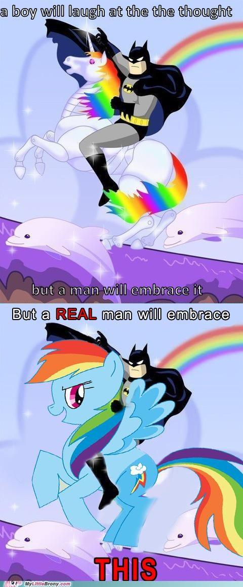batman best of week meme rainbow dash real man unicorn - 5369014272