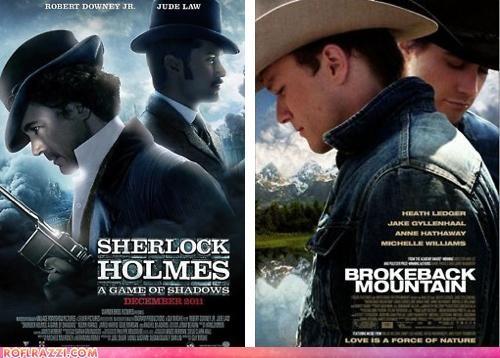 brokeback mountain,funny,Movie,poster,sherlock holmes