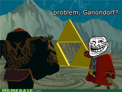Ganondorf triforce troll face video games zelda - 5369078016