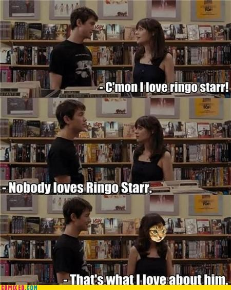 500 Days of Summer,From the Movies,hipster,ringo starr,summer,the Beatles