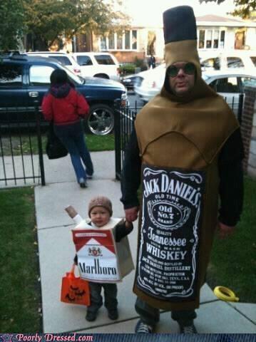 cigarettes,halloween,jack daniels,Parenting Fail