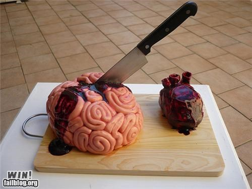 brain cake creepy design food gross halloween heart tasty - 5369388800