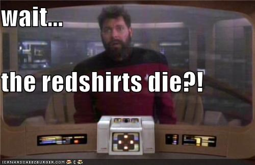 die,Jonathan Frakes,redshirts,Star Trek,william riker