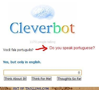 Cleverbot language portuguese speak - 5372593664