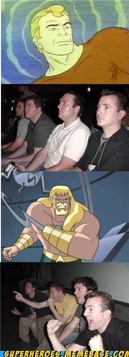 aquaman cartoons reaction guys Super-Lols - 5372862720