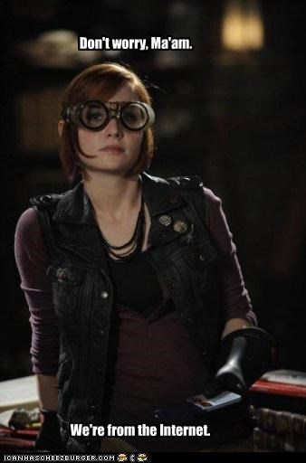 allison scagliotti,claudia donovan,dont worry,internet,warehouse 13
