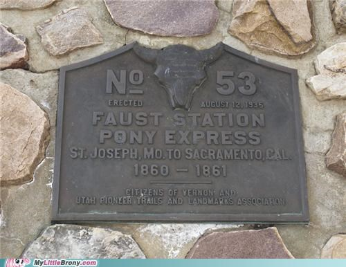 coincidence faust station faustception IRL pony express - 5374813696