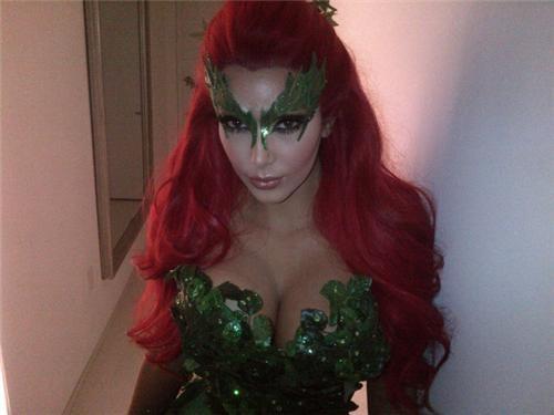 celeb,costume,halloween,kim kardashian,poison ivy