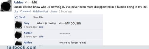 ashamed,books,family,Harry Potter,jk rowling,reading,Snookie