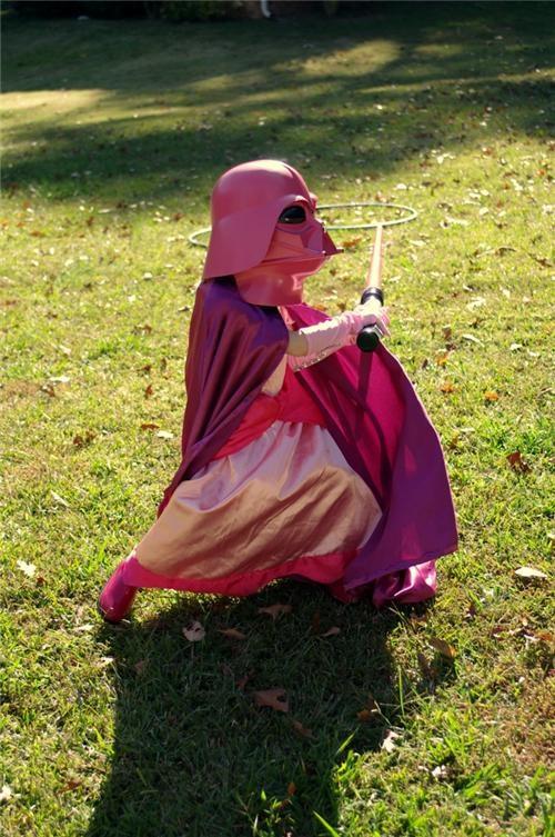 costume darth vader DIY halloween princess star wars - 5375557376