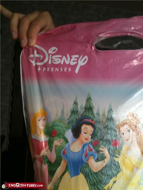 disney princesses misspelling prenses typos