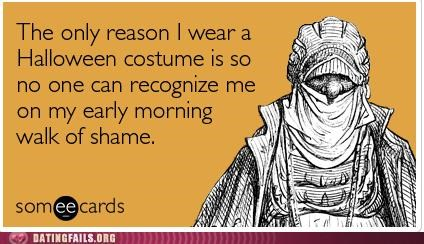 ecard,halloween,one night stand,walk of shame,We Are Dating