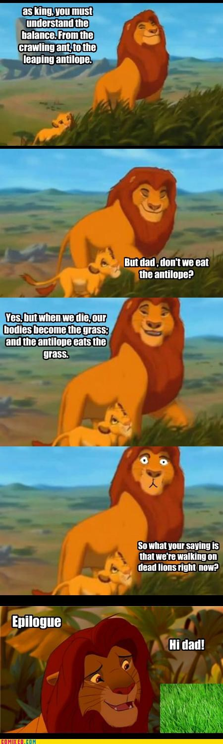antelope,epilogue,From the Movies,lion king,mufasa,pride rock,simba