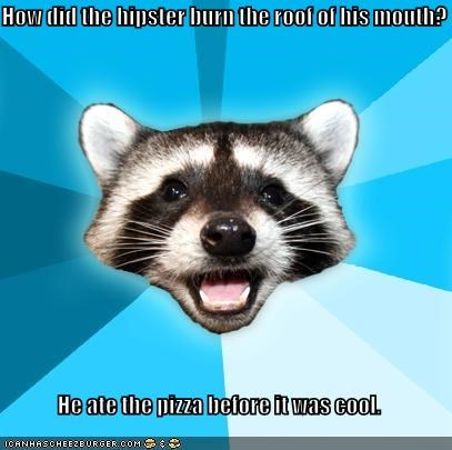 burn,cool,hipster,Lame Pun Coon,pizza,roommate