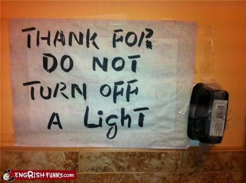 bad grammar,gratitude,lights