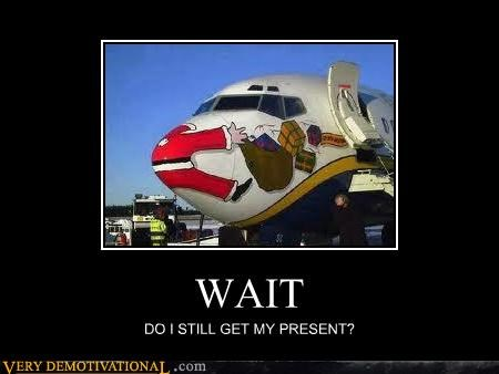 airplane hilarious present santa - 5376847872