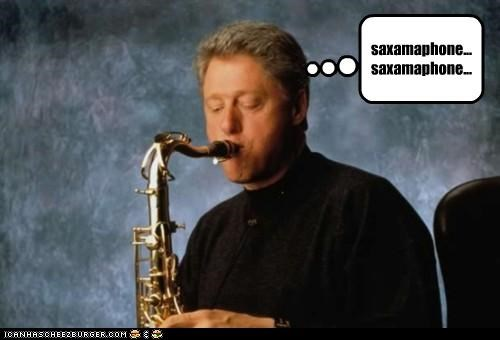 bill clinton,political pictures,saxophone,the simpsons