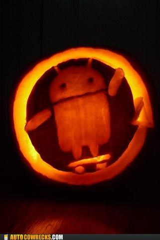 android carving halloween jack o lanterns pumpkins - 5377051904