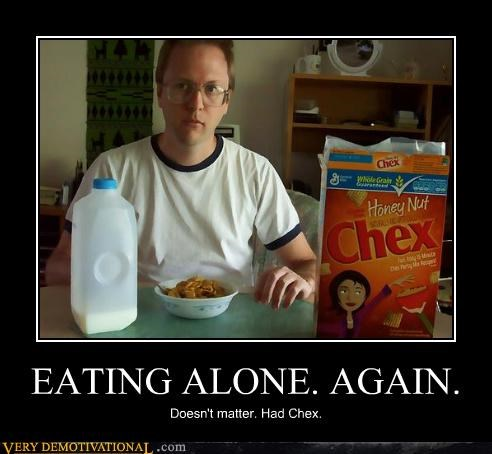 cereal chex eating alone hilarious wtf - 5377124096