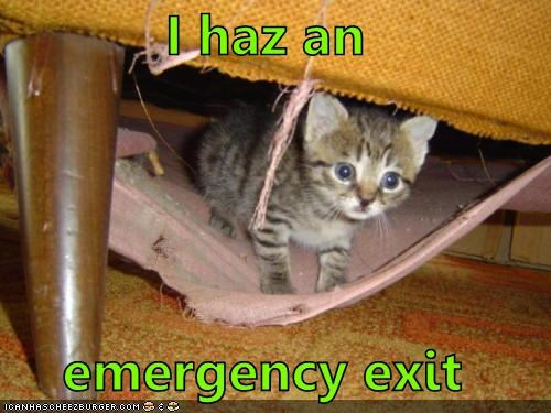 I haz an emergency exit