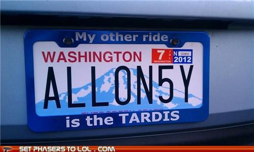 allonsy doctor who license plate my other car tardis the doctor - 5377481728