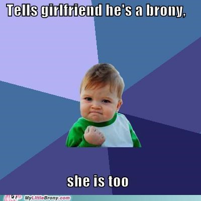 awesome brony girlfriend meme success kid together forever - 5377690368