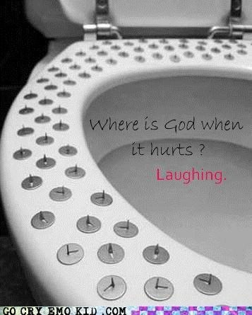 emolulz,god,laughing,pain,toilet,wtf