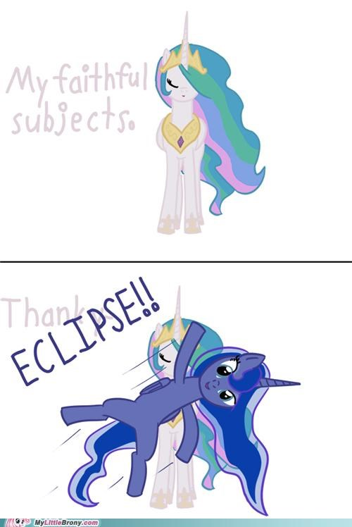celestia luna ponies solar eclipse thanks