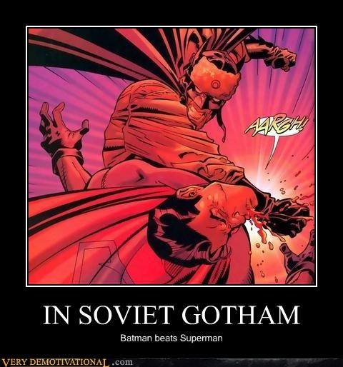 batman,punch,Soviet Russia,Super-Lols,superman