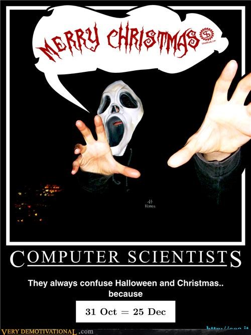 computer scientists Hall of Fame halloween math merry christmas Terrifying wtf