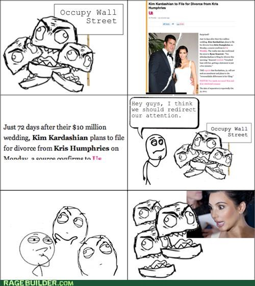 divorce,kim kardashian,Occupy Wall Street,Rage Comics