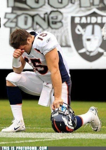 Denver Broncos football like planking meme mile high stadium tebowing tim tebow