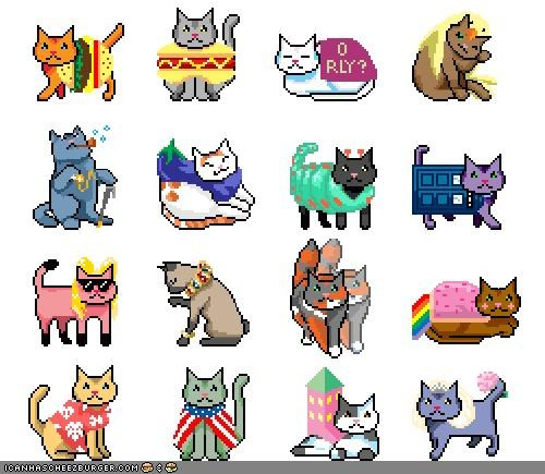 8 bit,animated gifs,awesome,costume,gifs,halloween,meowloween,originals,pusheen