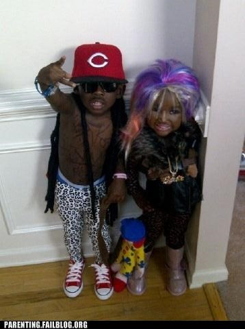 celeb,costume,halloween,lil wayne,nicki minaj,Parenting Fail,pop culture,snooki