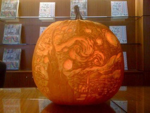 halloween,jack o lanterns,MoMA,The Starry Night