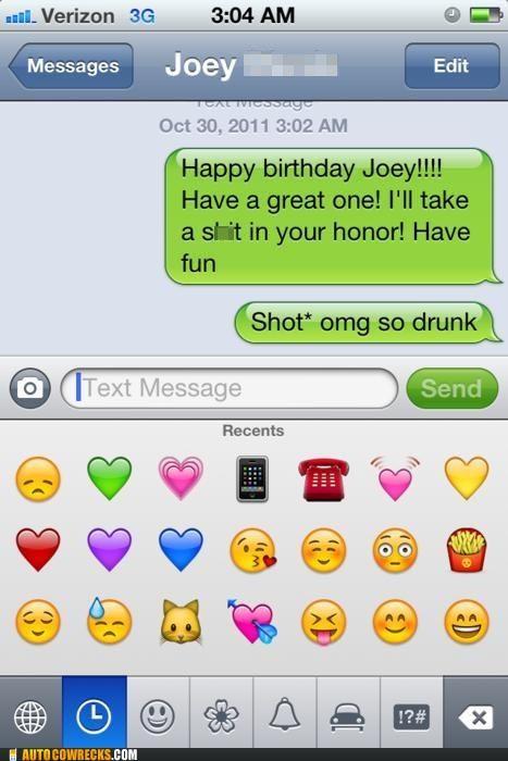 birthday crap drinking drunk mistext poop shot spelling - 5378901760