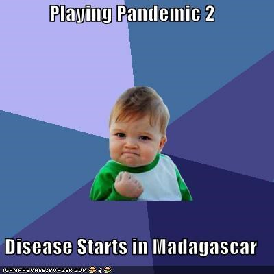 Playing Pandemic 2 Disease Starts in Madagascar