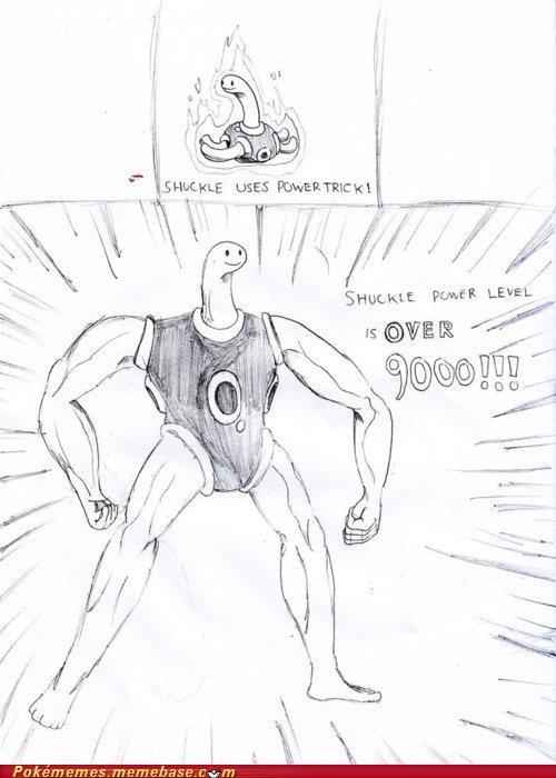 art drawing Pokémans power trick Shuckle the strongest - 5379105536