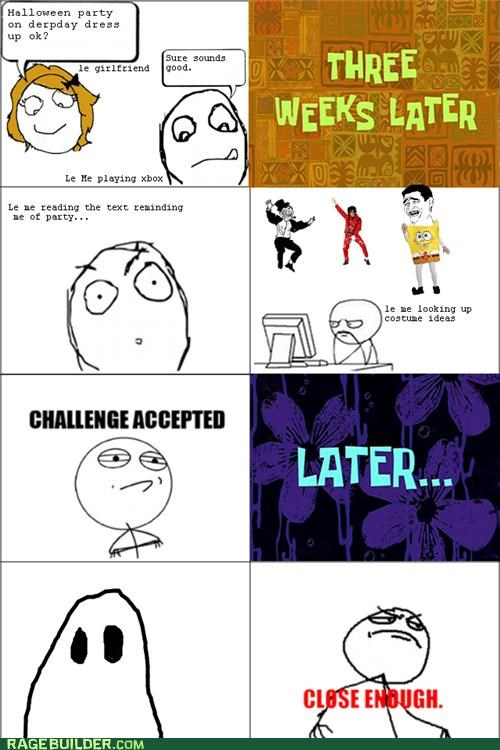 costume ghost lazy Rage Comics - 5379208448