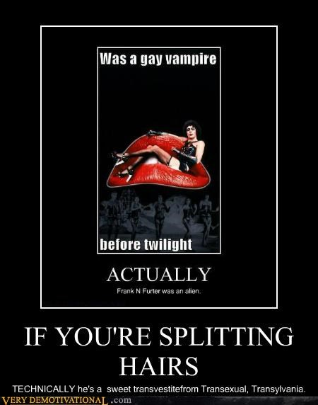 frank n furter,hilarious,rhps,splitting hairs