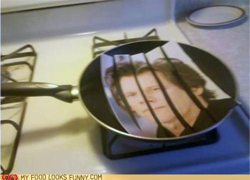 bacon,cooking,kevin bacon,pan,paper,Photo,picture,stove