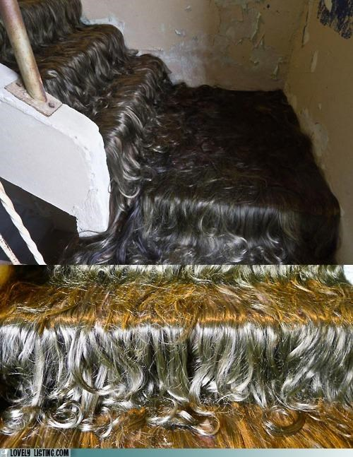 art carpet hair installation stairs - 5379385344