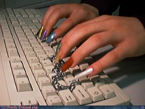 fingernails,getting yo nails did,typing