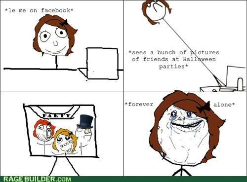 forever alone halloween Party Rage Comics - 5379439872